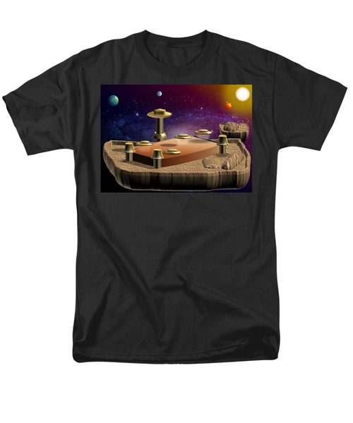 Men's T-Shirt  (Regular Fit) featuring the digital art Asteroid Terminal by Cyril Maza