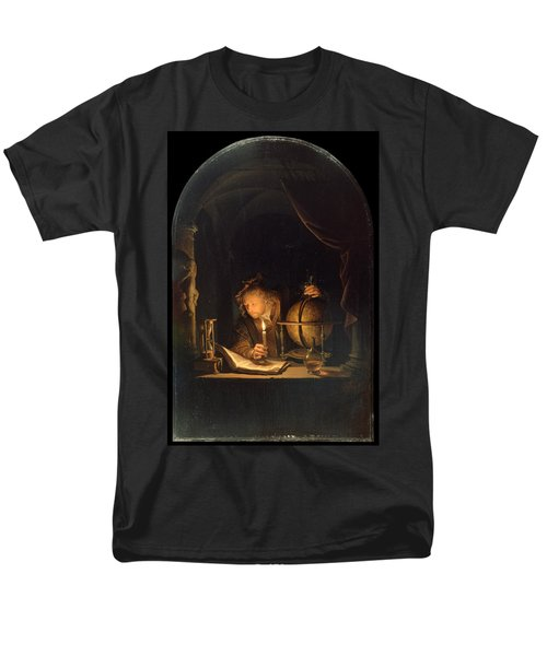 Astronomer By Candlelight Men's T-Shirt  (Regular Fit) by Gerrit Dou