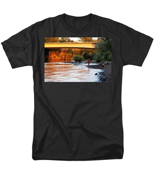 Men's T-Shirt  (Regular Fit) featuring the photograph At Rivers Edge by Melanie Lankford Photography