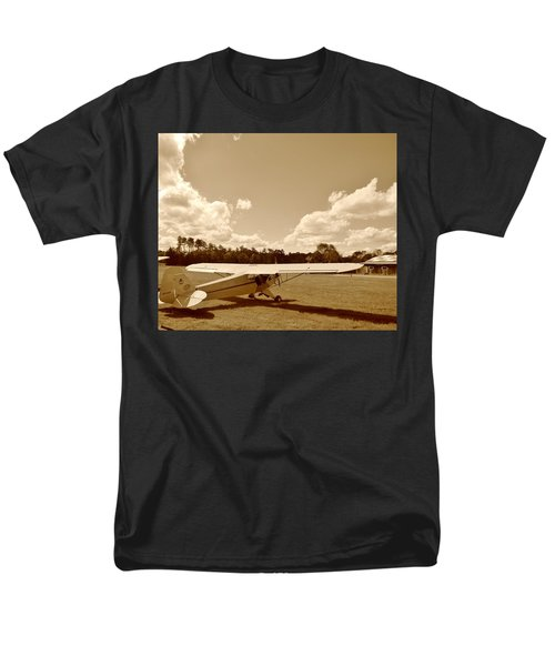 Men's T-Shirt  (Regular Fit) featuring the photograph At The Airfield by Jean Goodwin Brooks