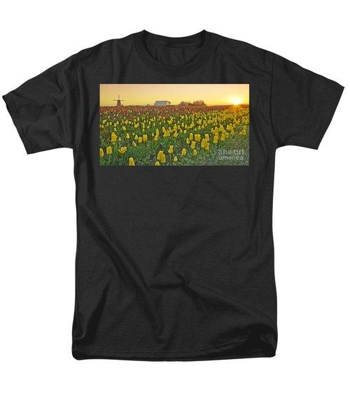 At The Crack Of Dawn Men's T-Shirt  (Regular Fit) by Nick  Boren