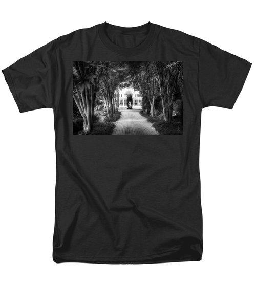 Atlanta Botanical Garden-black And White Men's T-Shirt  (Regular Fit) by Douglas Barnard