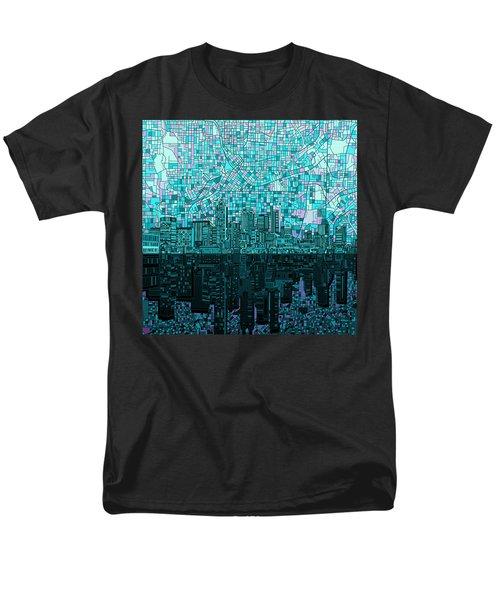 Atlanta Skyline Abstract 2 Men's T-Shirt  (Regular Fit) by Bekim Art