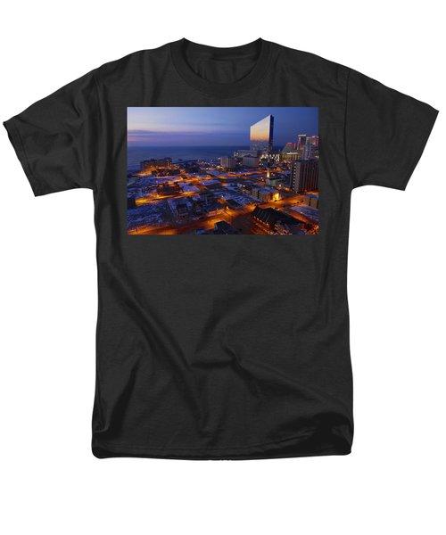 Atlantic City At Dawn Men's T-Shirt  (Regular Fit) by Joan Reese