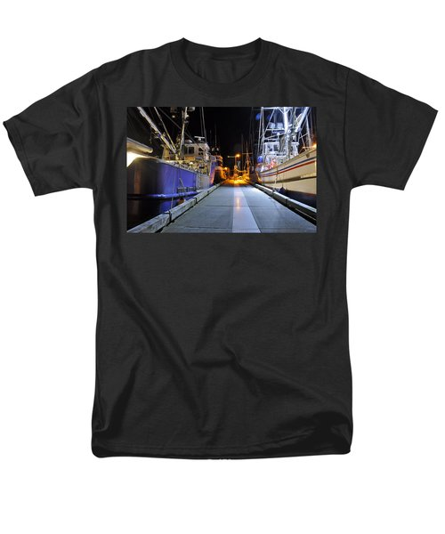 Men's T-Shirt  (Regular Fit) featuring the photograph Auke Bay By Night by Cathy Mahnke