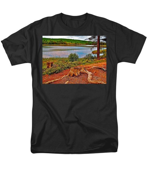 Aunt Betty Pond In Acadia National Park-maine  Men's T-Shirt  (Regular Fit) by Ruth Hager