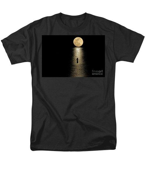 Auspicious Moon Men's T-Shirt  (Regular Fit) by Bob Hislop