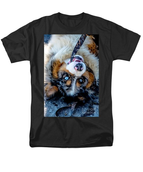 Australian Shepherd Men's T-Shirt  (Regular Fit) by Cheryl Baxter