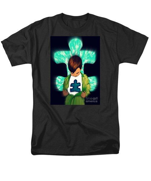 Autism Black Focused Men's T-Shirt  (Regular Fit) by Justin Moore