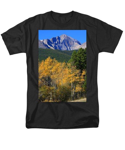 Autumn Aspens And Longs Peak Men's T-Shirt  (Regular Fit)