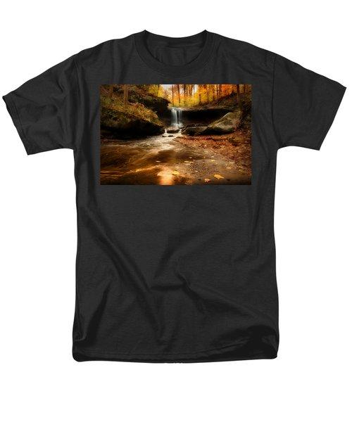 Autumn At Blue Hen Falls Men's T-Shirt  (Regular Fit) by Rob Blair