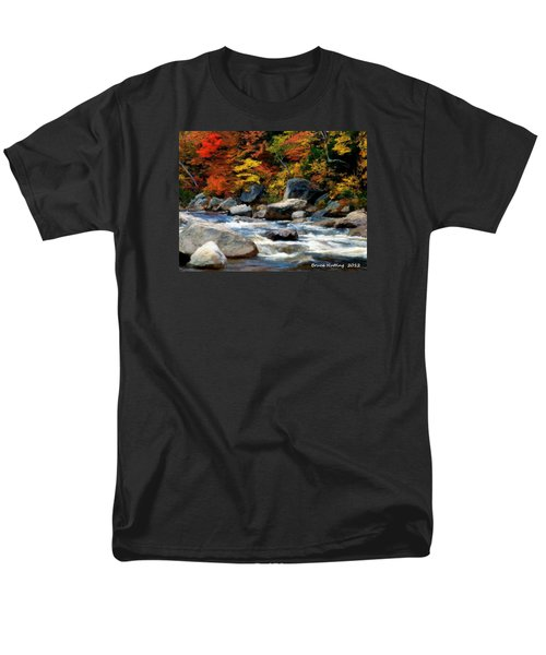 Men's T-Shirt  (Regular Fit) featuring the painting Autumn Creek by Bruce Nutting