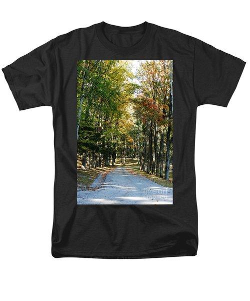 Autumn Drive Men's T-Shirt  (Regular Fit) by Barbara Bardzik