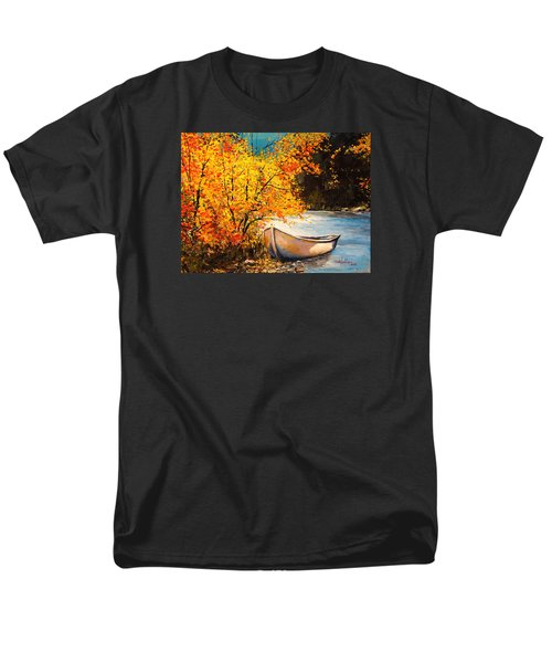 Men's T-Shirt  (Regular Fit) featuring the painting Autumn Gold by Alan Lakin