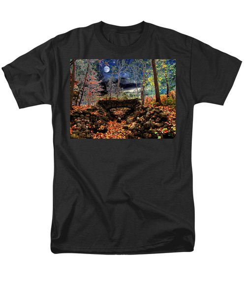 Men's T-Shirt  (Regular Fit) featuring the painting Autumn In The Meadow by Michael Rucker