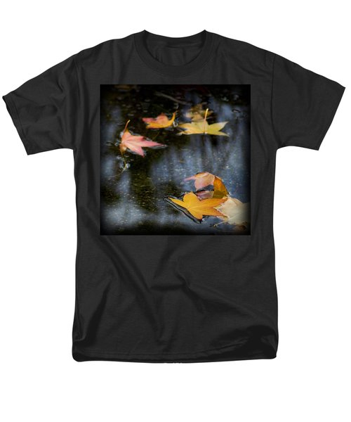Men's T-Shirt  (Regular Fit) featuring the photograph Autumn Leaves On Water by Yulia Kazansky