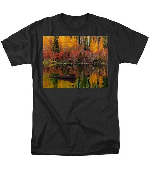 Autumn Reflections Men's T-Shirt  (Regular Fit) by Leland D Howard