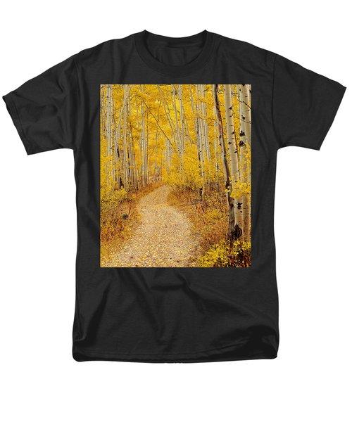 Autumn Road Men's T-Shirt  (Regular Fit) by Leland D Howard