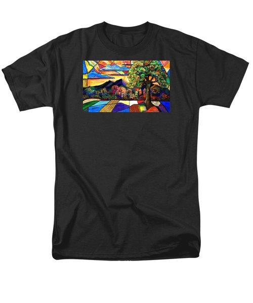 Autumn Sunrise Men's T-Shirt  (Regular Fit) by Everett Spruill