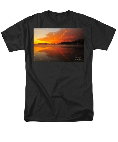 Autumn Sunrise At Stoneledge Lake Men's T-Shirt  (Regular Fit) by Terri Gostola