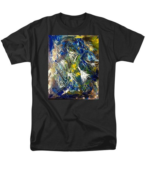 Men's T-Shirt  (Regular Fit) featuring the painting Awakening The Bear by Kicking Bear  Productions