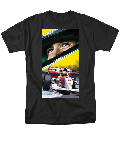 Ayrton Senna Artwork Men's T-Shirt  (Regular Fit) by Sheraz A
