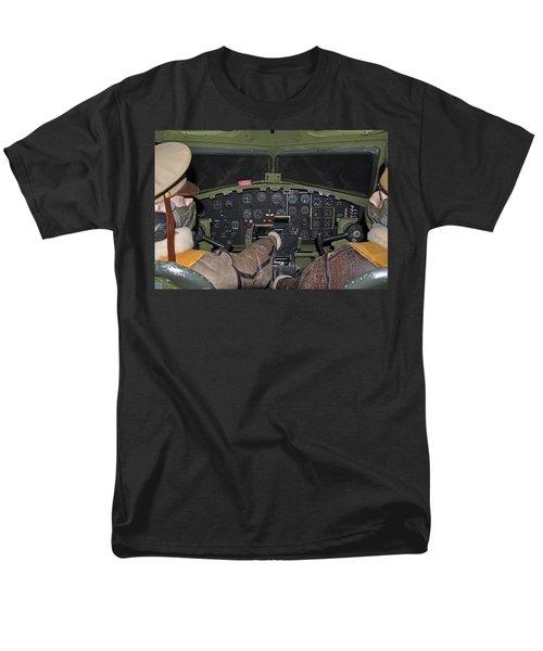 B-17 Bomber Cockpit Men's T-Shirt  (Regular Fit) by John Black