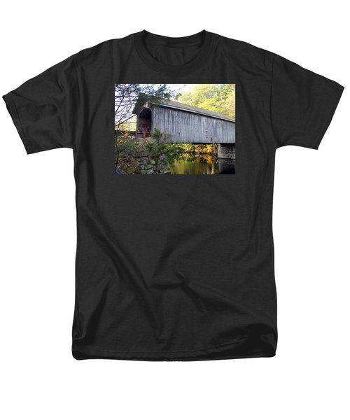 Babbs Covered Bridge In Maine Men's T-Shirt  (Regular Fit) by Catherine Gagne