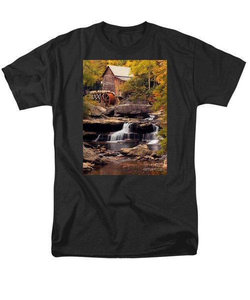 Babcock Grist Mill And Falls Men's T-Shirt  (Regular Fit) by Jerry Fornarotto