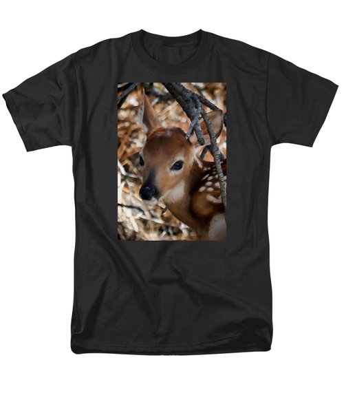 Baby Face Fawn Men's T-Shirt  (Regular Fit) by Athena Mckinzie