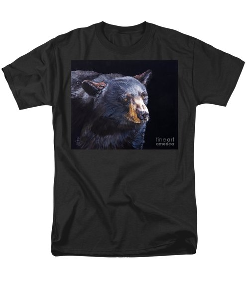 Back In Black Bear Men's T-Shirt  (Regular Fit) by J W Baker