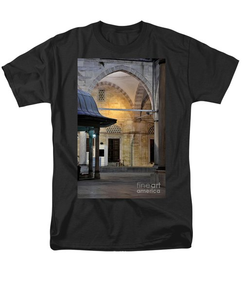 Men's T-Shirt  (Regular Fit) featuring the photograph Back Lit Interior Of Mosque  by Imran Ahmed