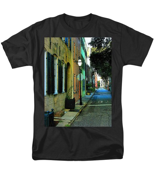 Men's T-Shirt  (Regular Fit) featuring the photograph Back Street In Charleston by Rodney Lee Williams