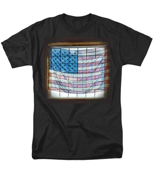 Backlit American Flag Men's T-Shirt  (Regular Fit)
