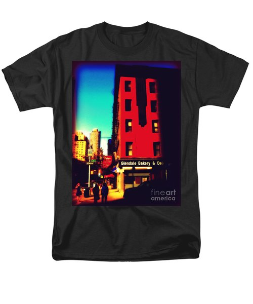 Men's T-Shirt  (Regular Fit) featuring the photograph The Bakery - New York City Street Scene by Miriam Danar