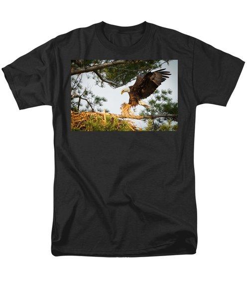 Bald Eagle Building Nest Men's T-Shirt  (Regular Fit) by Everet Regal