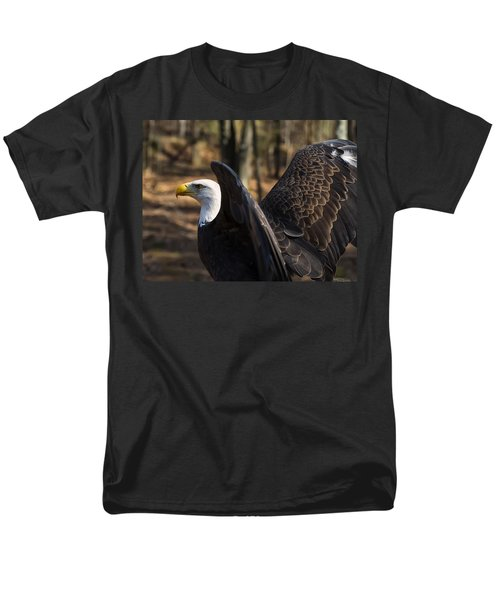 Bald Eagle Preparing For Flight Men's T-Shirt  (Regular Fit) by Chris Flees