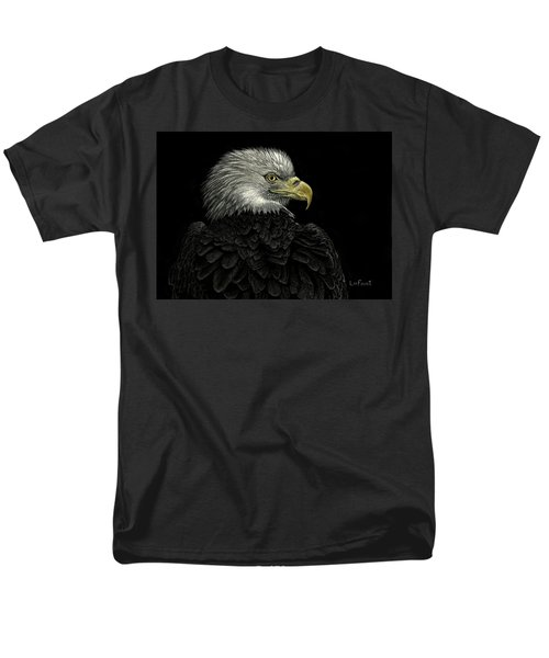 Men's T-Shirt  (Regular Fit) featuring the drawing American Bald Eagle by Sandra LaFaut