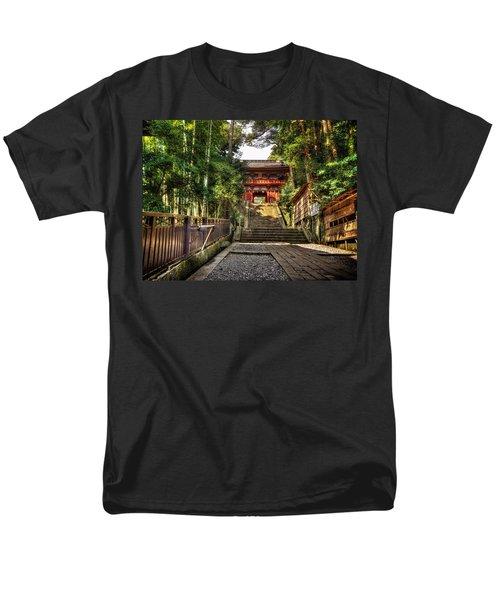 Men's T-Shirt  (Regular Fit) featuring the photograph Bamboo Temple by John Swartz