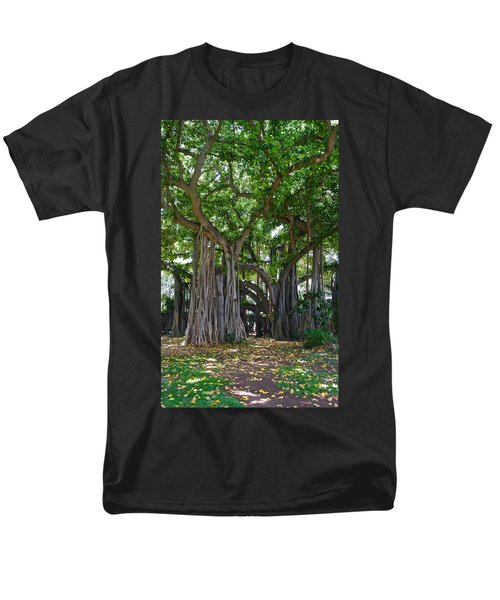Banyan Tree At Honolulu Zoo Men's T-Shirt  (Regular Fit) by Michele Myers