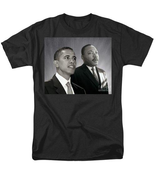 Barack Obama  M L King  Men's T-Shirt  (Regular Fit) by Martin Konopacki Restoration