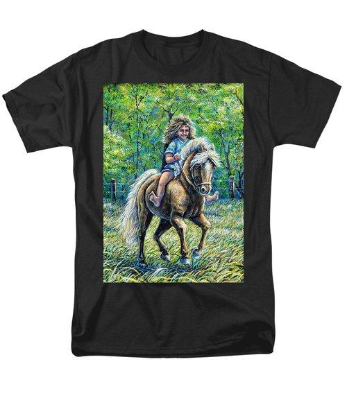 Barefoot Rider Men's T-Shirt  (Regular Fit) by Gail Butler