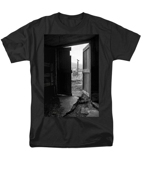 Barn Door - View From Within - Old Barn Picture Men's T-Shirt  (Regular Fit) by Gary Heller
