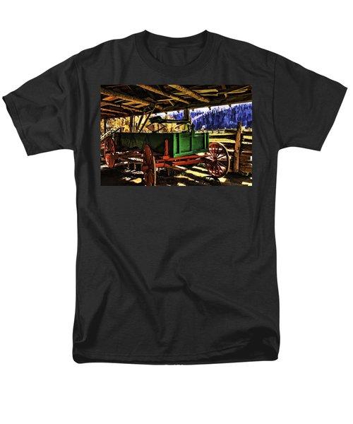 Men's T-Shirt  (Regular Fit) featuring the painting Barn by Muhie Kanawati