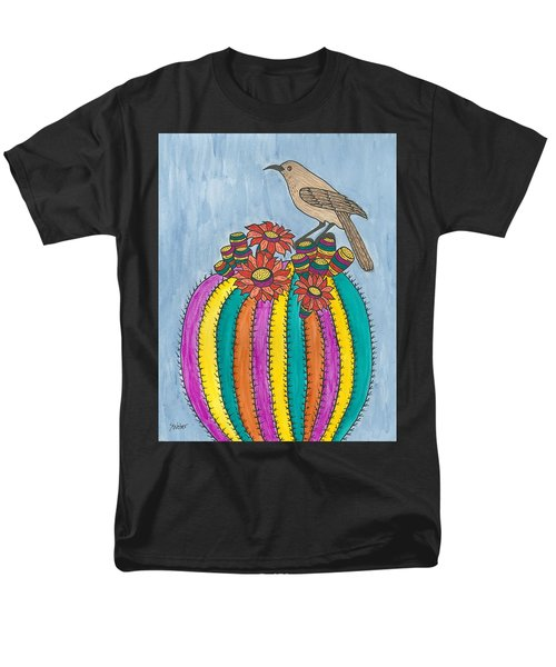 Barrel Of Cactus Fun Men's T-Shirt  (Regular Fit) by Susie Weber