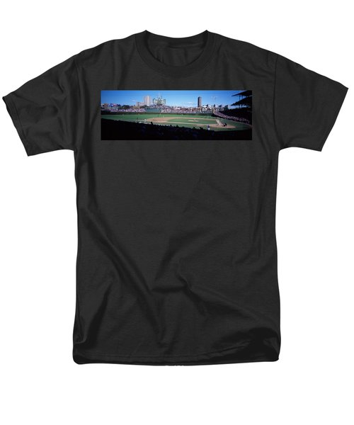 Baseball Match In Progress, Wrigley Men's T-Shirt  (Regular Fit) by Panoramic Images