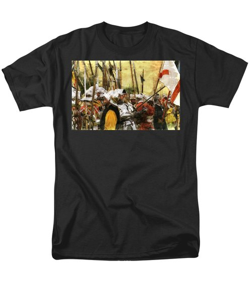 Battle Of Tewkesbury Men's T-Shirt  (Regular Fit) by Ron Harpham