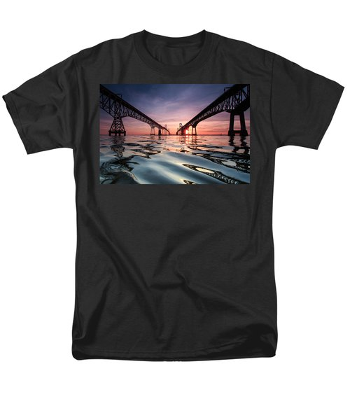 Men's T-Shirt  (Regular Fit) featuring the photograph Bay Bridge Reflections by Jennifer Casey