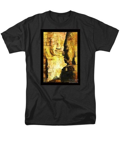 Bayon Khmer Temple At Angkor Wat Cambodia Men's T-Shirt  (Regular Fit)