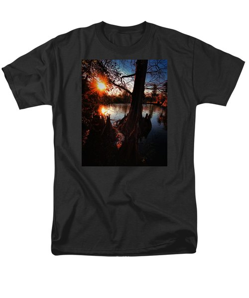 Men's T-Shirt  (Regular Fit) featuring the photograph Bayou Sundown by Robert McCubbin